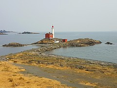 Fisgard Lighthouse from Fort Rodd Hill (walneylad) Tags: victoria britishcolumbia canada august summer view scenery nature