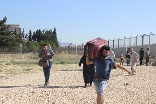 Suriyeliler ülkelerine gitmek için 'depar' attı