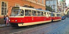 Tram dans la ville de Prague (lescamionsdeurope) Tags: tram train city ville transportencommun prague réplubliquetech