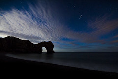 Perseid Meteor Shower. Durdle Door. 13.08.2017 (Tim Bullock Photography) Tags: astrophotography dorset sea durdle door meteor perseid canon 60d sigma nightscape coast silhouette long exposure