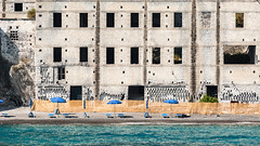 il Lido (andreasbrink) Tags: italy summer urban isoleeolie lido industry beach sea ruin