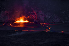 Glowing Polygons (Tyson Poeckh) Tags: lava hawaii big island national park canon eruption glow volcano crater halemaumau jaggar lookout platinumheartaward greatphotographers artofimages
