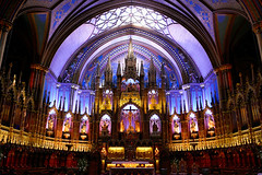 Basilique Notre-Dame de Montréal (Matthias Harbers) Tags: basiliquenotredamedemontréal montreal quebec canada gothic catholicchurch basilica nationalhistoricsite romancatholic impressions walk building architecture panasonic dmctx1 photoshopelements topaz lumix zs100 tz100 living city street life impression dxopro topazlabs colors texture lines wood church historic altar dxo lights elumination