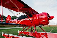 WACO YMF-5F Amphib (dpsager) Tags: 2018 airventure dpsagerphotography eaa eaaoshkoshairshow eos1v film fujisuperia100 oshkosh wisconsin aircraft airplane airshow wacoymf5famphib osh18