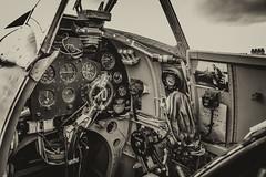 Pilots Home (Tony Howsham) Tags: raf aircraft ww2 vintage monochrome blackandwhite view pilots cockpit spitfire 18250 sigma 70d eos canon