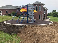 Atchison Kansas (Ecoturf Surfacing) Tags: atchison kansas atchisonkansas bondedrubbermulch mulch rubber protection fallsafety safety children park playground fun colorful recycled grant savemoney ecoturfsurfacing safetysurface pouredinplace pouredinplacesurfacing rubbermulch