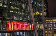 charles schwab in the red (pbo31) Tags: sanfrancisco california city urban night dark august summer 2018 boury pbo31 color transbay transit center financialdistrictsouth cbd architecture contemporary over black red