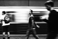 349 365 Terminal 349 365 (ewitsoe) Tags: 50mm canoneos6dii cityscape street erikwitsoe poland summer urban warsaw blackandwhite city mono monochrome bnw train tram metro station motion grain