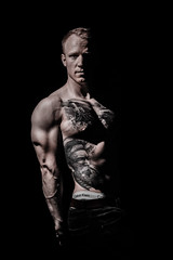 _BSC2421 (benni_schuetzenhofer) Tags: inked shredded shred tattoo tattooedup blackbackground abs sixpack huge muscle muscles big getbig fitness model athletic fit fitguy man male malemodel