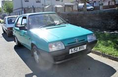 1994 Skoda Favorit LXIe Plus (occama) Tags: l52wrl 1994 skoda favorit aqua old car cornwall uk czech rare sun street
