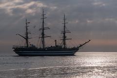 D50_9036 (maerskman) Tags: amerigovespucci ship tallship sailingship morning elbe cuxhaven clouds sunrise d500 trappmann