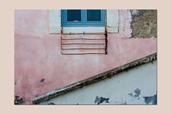 lines and crepe (sandrorotonaria) Tags: pink colors gaeta linee line window white rust
