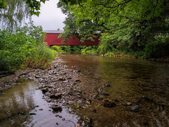 Kreidersville Covered Bridge (Ed Rosack) Tags: other usa landscape bridge riverscape buildingandarchitecture pennsylvania coveredbridge ©edrosack creek antiquesandcollectibles water norhampton