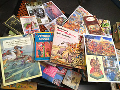 Various books & illustrations gathered for inspiration (jasoux) Tags: books pictures vintagebooks illustration inspiration bookcovers oldbooks childrensbook chooseyourownadventure picturebook vintagebook drawing book drawings