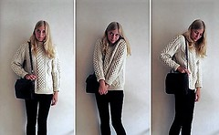 Casual aran fisherman outfit (Mytwist) Tags: julia donegal irish aran ireland ie honeycomb fisherman wool knitwear outfit love cozy unisex gift design fetish designed classic craft vintage grobstrick sweatergirl vouge laine pullover retro timeless yarn garnment