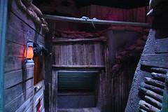John B Mahaffey Museum Complex (Adventurer Dustin Holmes) Tags: 2018 missouri museum indoor fortleonardwood ftleonardwood ozarks pulaskicounty military army usarmy unitedstatesarmy johnbmahaffeymuseum mahaffeymuseum exhibit display gallery regimentalmuseum chemicalcorps light lantern trench trenchwarfare firstworldwar wwi worldwari lowlight wood wooden walls sandbags