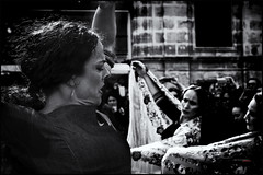 sentimiento_3 (bit ramone) Tags: flamenco baile dance music música gipsy gitano bn bw andalucía pasión passion woman mujer jerez jerezdelafrontera anamarga gente monocromático bitramone