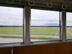 The window frames (しまむー) Tags: panasonic lumix gx1 g 20mm f17 asph natural train tsugaru free pass 津軽フリーパス