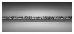 Summer Tetris [On Explore] (Marco Maljaars) Tags: longexposure le seascape beach house houses monochrome marcomaljaars blackandwhite bw mood serenity canon 70d sky light streaks cabins cabinets tetris