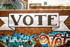 Don't Forget to Vote (Thomas Hawk) Tags: america california sanfrancisco usa unitedstates unitedstatesofamerica graffiti vote fav10