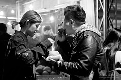 20180808-51-Queen Victoria winter night market_BW (Roger T Wong) Tags: 2018 australia bw melbourne queenvictoriamarket rogertwong sel24105g sony24105 sonya7iii sonyalpha7iii sonyfe24105mmf4goss sonyilce7m3 victoria blackandwhite food mono monochrome night people portrait stalls street