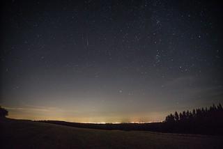 Sternenhimmel und Sternschnuppe