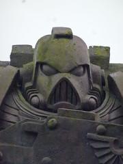 Space Marine (The Chairman 8) Tags: nottingham statue spacemarine helmet powerarmour armour bolter gun nottinghamshire england