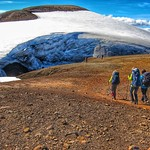 Iceland ~ Landmannalaugar Route ~  Ultramarathon is held on the route each July ~ Hiking to New Camp Site thumbnail