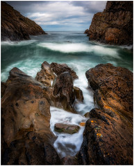 Funnelled Fury (Augmented Reality Images (Getty Contributor)) Tags: nisifilters benro canon cliffs clouds coastline horizon landscape longexposure morayshire portknockie rocks scotland seascape water waves