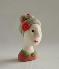 Rosa (Gretel Parker) Tags: needlefelted needlefelt needlefelting softsculpture fibreart versailleswig gretelparker needlefeltedhead miniaturehead