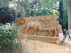 Camels (Fullenergygirl) Tags: sandsculpturefestival odensezoo danmark animal camel camels sand