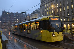 Manchester Metrolink 3045 (Will Swain) Tags: 13th april 2018 greater manchester city centre north west tram trams light rail railway rails transport travel europe st peters square williamsdigitalcamerapics100 metrolink 3045