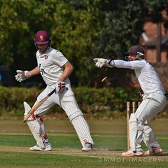When the keeper thinks he's got you on toast! (Steve.T.) Tags: cricket summer sportphotography sportsphotography wicketkeeper batsman batting summersport withamcricketclub essex witham clubcricket appealing owzat howzat sport playingsport keeper bails disturbingthebails woolpitcricketclub