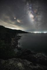 milky way (katsumasa0313) Tags: sea milkyway star seaacape wave amakusa kumamoto japan coast rock