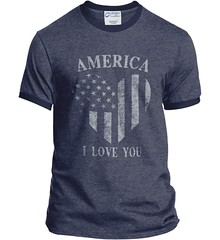 America I Love You Port and Company Ringer Tee. Heather Navy/Navy.  | Loyal Nine Apparel (LoyalNineApparel) Tags: 2a ar10 ar15 billofrights blackriflesmatter defendthe2nd defendthesecond firearm firearms godblessamerica gunlove guns gunslifestyle igmilitia libertarians loveyouamerica loyalnineapparel loyalnineclothes mensfashion menstyle navy patriotic pewpew practice shootingrange teapartyrepublican teeshirt thepewpewlife threepercenter veteran
