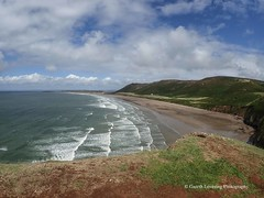 Rhossilli Bay 2018 08 16 #2 (Gareth Lovering Photography 5,000,061) Tags: sunflowers rhossili gower nationaltrustwales nationaltrust swansea outstanding landscape seascape beautiful beach seaside olympus tg5 garethloveringphotography