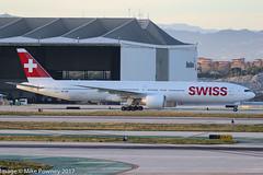 HB-JNB - 2016 build Boeing B777-3DEER, shortly after arrival at Los Angeles (egcc) Tags: 1383 44583 b773 b777 b777300 b7773deer boeing california hbjnb imperialhill klax lax lx lightroom losangeles swr staralliance swiss swissinternationalairlines triple triple7