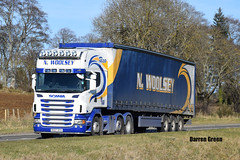 N. WOOLSEY SCANIA TOPLINE R620 V8 RX07 DYO (Darren (Denzil) Green) Tags: rx07dyo nwoolsey woolseytransport trailer transport nwoolseytransport woolsey a9rosskeen r620v8 euro5 topline scania scaniatrucks generalhaulage