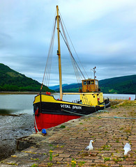 Scotland West Highlands Argyll the Clyde Puffer cargo ship Vital Spark docked at Inveraray 7 July 2018 by Anne MacKay (Anne MacKay images of interest & wonder) Tags: scotland west highlands argyll clyde puffer cargo ship vital spark docked inveraray landscape xs1 7 july 2018 picture by anne mackay