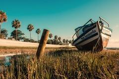 Boats... (hobbit68) Tags: boats hafen port puer baum ufer beach strand gras sand pfosten himmel sky old vergessen lost spain spanien spiegelt andalusien andalucia espanol espana espagne holday fujifilm xt2 sun sunshine sonne sommer