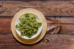 Whole grain pasta with spinach and basil on a white plate on  wooden background (zaklina.miljkovic) Tags: appetizing basil brunch cooking delicious diet dill dinner dish dressing eating food fresh garnish gourmet green healthy herb home homemade ingredients italian macaroni meal mediterranean plate rustic sauce savory snack spice spinach tasty traditional vegan vegetable vegetarian white wholegrain wooden