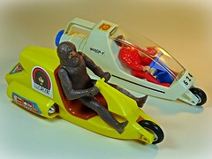 Kenner – Fantastic World of Six Million Dollar Man & Bionic Woman Toys – TTP (Turbo Tower of Power) – Dual Launch Drag Set – Bigfoot Drag Race Bike Restoration – Done! (My Toy Museum) Tags: kenner ttp tower power turbo dual launch drag bigfoot race bike restoration