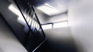 Take the stairs towards the light
