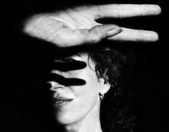 99˚ (.Betina.) Tags: fingers hand face shadow shadowplay 2018 woman dark monochrome mono mood moody monday mouth lips hair curls betinalaplante bb self iphone iphoneography blackandwhite grain portraiture