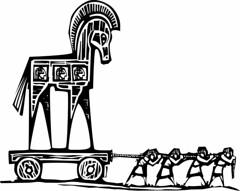 Trojan horse (mghresearchinstitute) Tags: classical culture fight greek helen hidden history homer horse iliad legend myth mythological odyssey poem ruse secret soldier trick trojan troy war warrior wood woodcut wooden