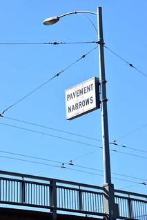 Pavement narrows