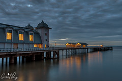 Penarth Pier (geraintparry) Tags: penarth pier sky skies cloud clouds south wales beach cardiff reflection water landscape coast sea morning outdoor seaside shore long exposure 10stop dawn skyline boardwalk geraint parry geraintparry sunrise