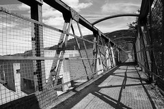 (Cheese_And_Wine) Tags: cheeseandwine blackandwhite 2470mm perspective halifax bridge industrial