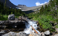 Lunch Creek (Sun~Lover) Tags: lunchcreek falls glaciernatinalpark waterfall montana pollackmountain rockymountains nationalparks crownjewelofthecontinent explore 2018