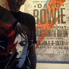 All I need is Bowie (Gotham Fer) Tags: love argentina buenosaires joker batman comic toys stardust ziggy plus iphone streetart glam david bowie tour poster tattoo tshirt music rock davidbowie